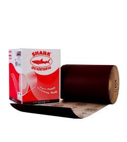 กระดาษทรายแดง (ม้วน) ตรา ปลาฉลาม