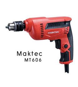 สว่านไฟฟ้า Maktec รุ่น MT606 ขนาด 10 มม. ใช้สำหรับงานเจาะไม้และเหล็ก