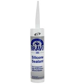 กาวซิลิโคน สีขาว BRAVO รุ่น 101