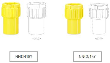 ข้อต่อกล่อง INCH NNCN18Y, NNCN15Y