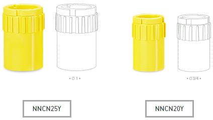 ข้อต่อกล่อง INCH NNCN20Y, NNCN25Y