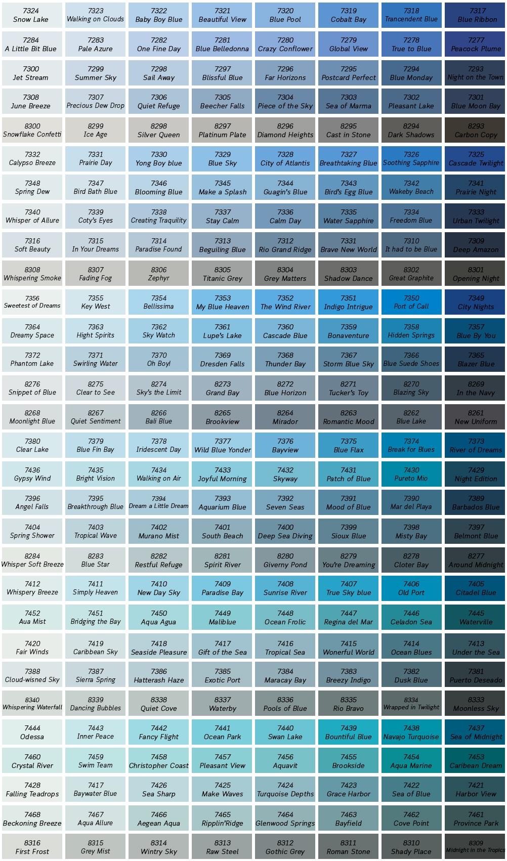 Dark blue tone