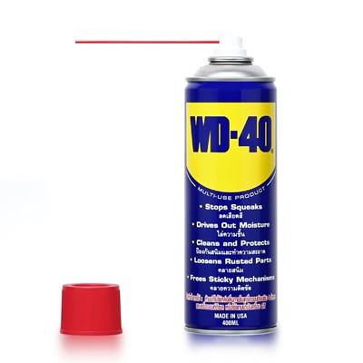 WD-40 น้ำมันอเนกประสงค์ ขนาด 191 มิลลิลิตร ใช้สำหรับหล่อลื่น คลายติดขัด ไล่ความชื่น ทำความสะอาด และป้องกันสนิม สีใส